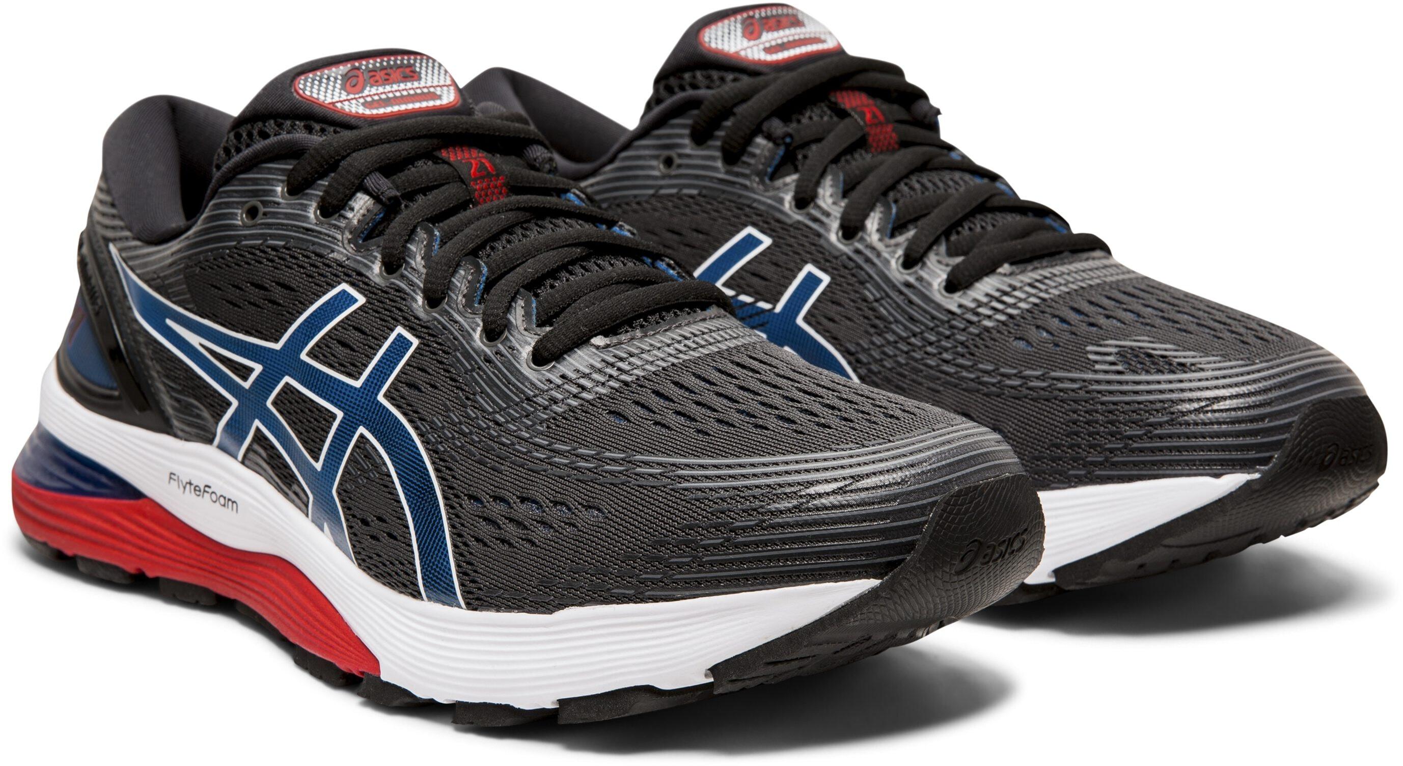 info for 7c736 794a5 asics Gel-Nimbus 21 Shoes Men black/electric blue